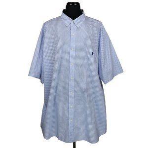 Ralph Lauren 4XL-T Short Sleeve Button Down Shirt